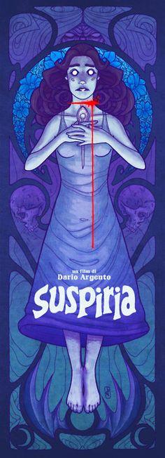 Suspiria (poster designed by Johnny Riesgo)