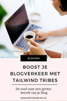 Boost je blogverkeer met Tailwind Tribes. #blogverkeer #blogboost #tailwind Marketing Tactics, Social Media Marketing, Affiliate Marketing, Online Marketing, Marketing Case Study, Earn Money Online Fast, Pinterest Marketing, Blog Tips, How To Start A Blog