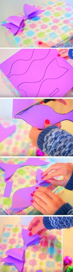 Easy Paper Bow | 20 + Last Minute DIY Christmas Hacks, Tips and Tricks