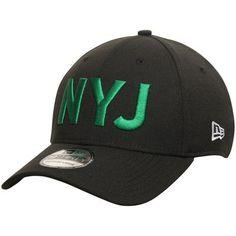e4b97b5c6 Men s New Era Black New York Jets Coaches Stretch 39THIRTY Flex Hat