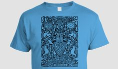 Scottish Coat-of-arms T-shirt, black ink, Scotland, Scots, Celtic, Order of the Thistle