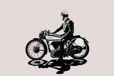 Conrad Leach is one of our leading contemporary motorcycle artists, with a wonderfully spare and elegant style.
