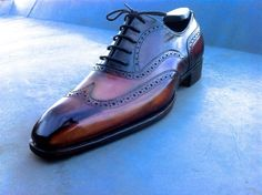 "Lacour & Thompson brogues , 50 shades of ... Brown "" Patina"