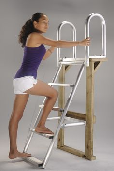 Accmar Fixed Easy Access Dock Ladder with four, Deep Steps