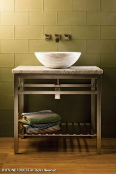 Having an open base is perfect for vessel sinks... Enhances the magic of the floating bowl.
