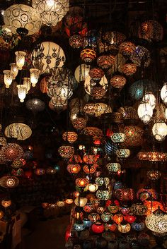 Kapali Çarsi | Flickr - Photo Sharing! - I'm sure some of these are electric, but I thought they looked so much like candle light, I posted this here.