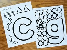 Alphabet Crafts - Lowercase by Simply Kinder Abc Crafts, Alphabet Crafts, Alphabet Art, Letter A Crafts, Preschool Activities, Alphabet Coloring, Spanish Alphabet, Daycare Crafts, Preschool Printables