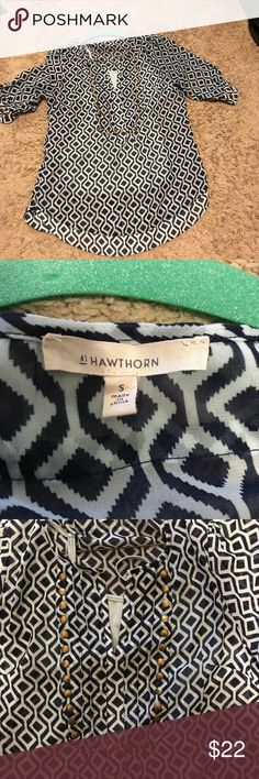 41hawthorn stitch fix moni stud Blouse Sheer 41hawthron studded sleeve too. Comes with camisole (light blue) underneath. Perfect condition. Worn two or three times 41hawthorn Tops Blouses