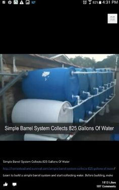 Water barrel collection