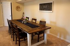 Dining room tables farmhouse style with white painted table legs | Decolover.net