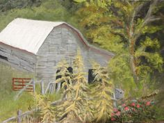 Birdhouse with Barn, Barnardsville 2014, 9x12, oil on oak panel, In the collection of Gary and Pat Cole.