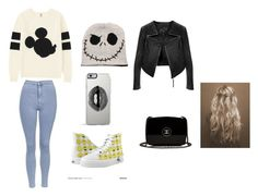 """""""mickey ♥"""" by anasilva-7 ❤ liked on Polyvore featuring Topshop, Uniqlo, Lipsy, Chanel and Linea Pelle"""