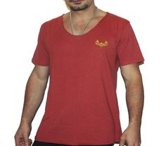 Dark Red Tonic Scoop Neck t-shirt | summer Clothing for men