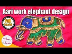 Aari work elephant design   aari work for beginners   hand embroidery, maggam work - YouTube