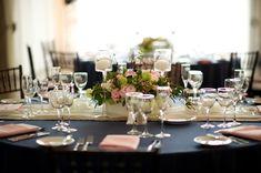 Navy & Pink Vintage Vineyard Wedding