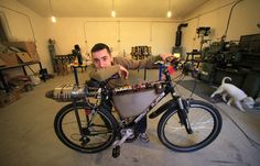 Funny Homemade Bicycle Made From Jet Engine