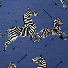 36378-005, Zebras, Denim, Scalamandre Fabrics