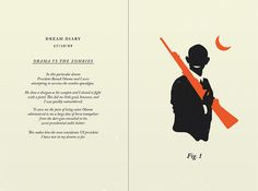 Dream journal: Obama vs. the Zombies (from Olly Moss)