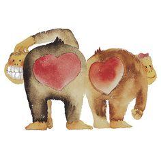 """Valentine's Day Abstract Love Monkeys"" by HolidayT-shirts | RedBubble. http://www.redbubble.com/people/holidayt-shirts/works/4291488-1-valentines-day-abstract-love-monkeys?utm_source=pinterest&utm;_medium=social&utm;_content=shirt&utm;_campaign=feb12"