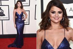 Selena Gomes, com look Calvin Klein - Foto: Getty Images