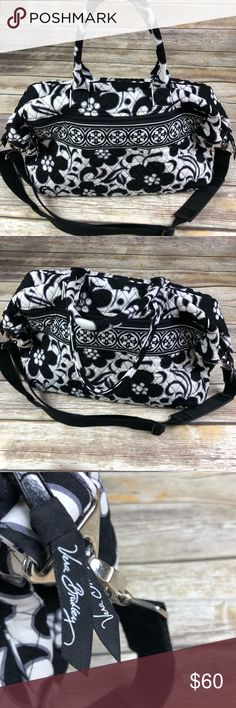 Vera Bradley Duffle size Bag In Black and White Thank you for visiting my  Page I ee4d93fb7dab1