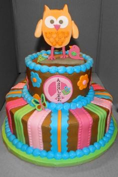 Hippie Chick Cake By ataylormadecake on CakeCentral.com