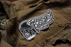 Scourge of the Roads 5.5 Embroidered Patch by strawcastle on Etsy #StrawCastleDesign #Motorcycle #Patch