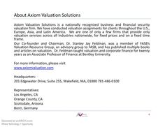 About Axiom Valuation Solution