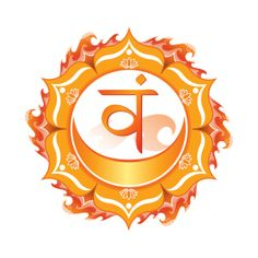 Sacral Chakra Svadhisthana  Art  Spiritual  by LynnSchaferDesigns, $20.00