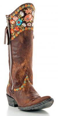 Womens Old Gringo Gaylarazz Boots Brass #L1096-4