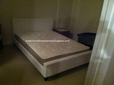 costco leather white bed assembled in national harbor md by Furniture assembly Experts® LLC
