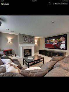 Basement Home Living Room, Living Room Decor, Manly Living Room, Cozy Living ,