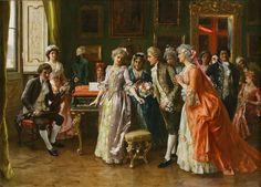 FEDERICO ANDREOTTI, Italian artist (1847- 1930) - The Concerto