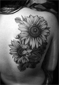 Black And Grey Gerbera Tattoo Tattoo Pinterest Tattoos