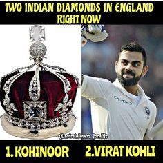 Two Diamonds in one Country...💘💘💘😊 #Precious Virat...💗💖❤