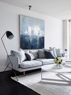 38 Scandinavian Living Room Design for Best Home Decoration Artwork For Living Room, Small Space Living Room, Living Room Furniture, Living Room Decor, Small Spaces, Rebecca Judd, Saloon, Living Room Designs, Decor Ideas