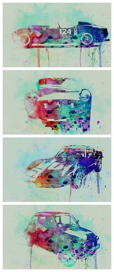 Wow! Stunning! These iconic car water-color paintings are out of this world. Click to own one today! #autoart