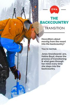 You're nervous about going backcountry? Jones Snowboards athlete Halina Boyd chimes in: http://outdoorwomensalliance.com/backcountry-snowboarding-splitboarder-halina-boyd/