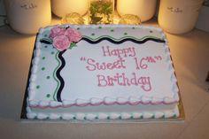 Sweet 16 Sheet Cake — Birthday Cake Photos