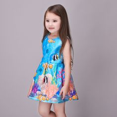 19.00$  Buy here - http://ali8bb.shopchina.info/go.php?t=32671000964 - Baby Girls Dress 2016 Brand Princess Dress for Girls Clothes Pattern Designer Kids Dresses Children Clothing Cutey Girls Dress  #aliexpresschina