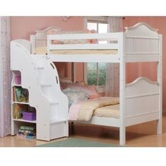 Image result for bunk beds with stairs in front