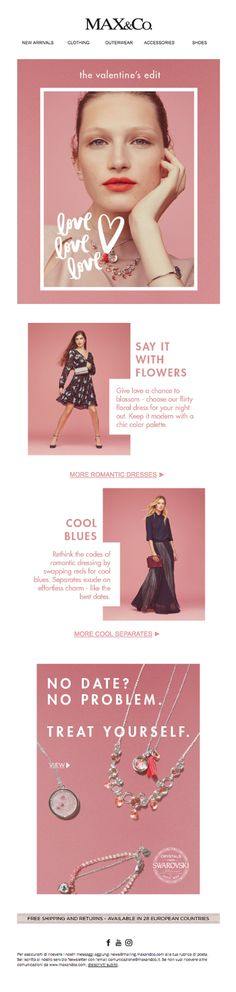 8 Things Which You Need to Include in Your Valentines Day Email Campaign Mail - Email Blasts - Ideas of Email Blasts - 8 Things Which You Need to Include in Your Valentines Day Email Campaign Mail Designer Create HTML email newsletters Newsletter Layout, Email Layout, Email Newsletter Design, Email Newsletters, Web Minimalista, Mailer Design, Email Design Inspiration, Fashion Banner, Email Marketing Design