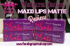Review: NATURA FACES Maxxi Lips matte  #Makeup #reviews #Lipsticks #beautybloggers
