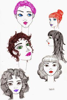 Girls by Ileana Perez-Monroy #doodles#sketches#illustration