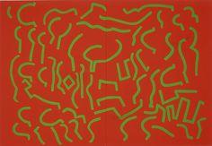 Carla Accardi   Verde senza alcuna tregua (Rosso verde), 2004   vinyl on canvas