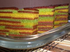 Haw Flakes Lapis (Layered) Steamed Cake