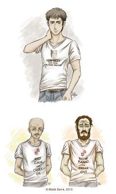 Attack on Titan ~~ T-Shirts Again by Hanami-Mai.deviantart.com on @deviantART