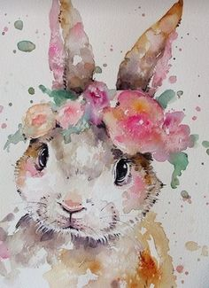Gorgeous rabbit print drawings for kids Art Painting Images, Painting & Drawing, Watercolor Paintings, Art Paintings, Watercolor Water, Watercolor Images, Baby Room Paintings, Easter Paintings, Image Painting