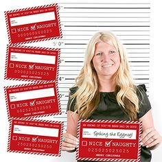 Santa's Naughty List Mug Shots - Christmas Party Photo Booth Props Kit - 20 Count Big Dot of Happiness http://smile.amazon.com/dp/B0163GN966/ref=cm_sw_r_pi_dp_NPGtwb16R23QZ