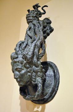 Medusa A 1925 door-knocker by French artist Emile Antoine Bourdelle. Medusa Art, Medusa Gorgon, Le Corbusier, Art Nouveau, Antoine Bourdelle, Door Knobs And Knockers, French Sculptor, Architecture Design, French Artists